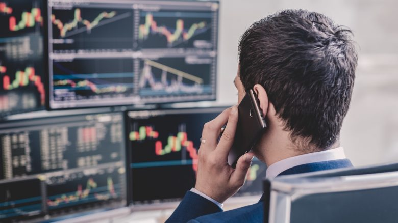 Professional Trader / Client on Phone